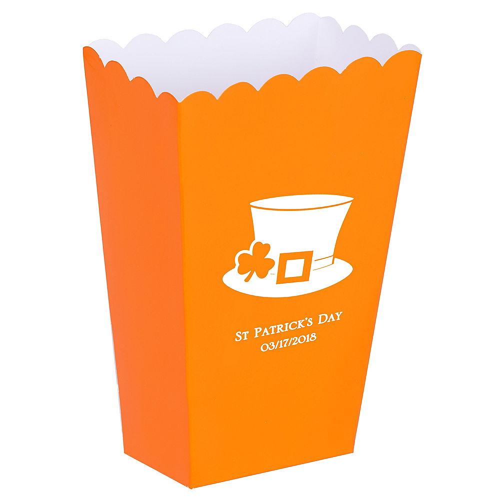 Personalized Mini St. Patrick's Day Popcorn Treat Boxes Image #1