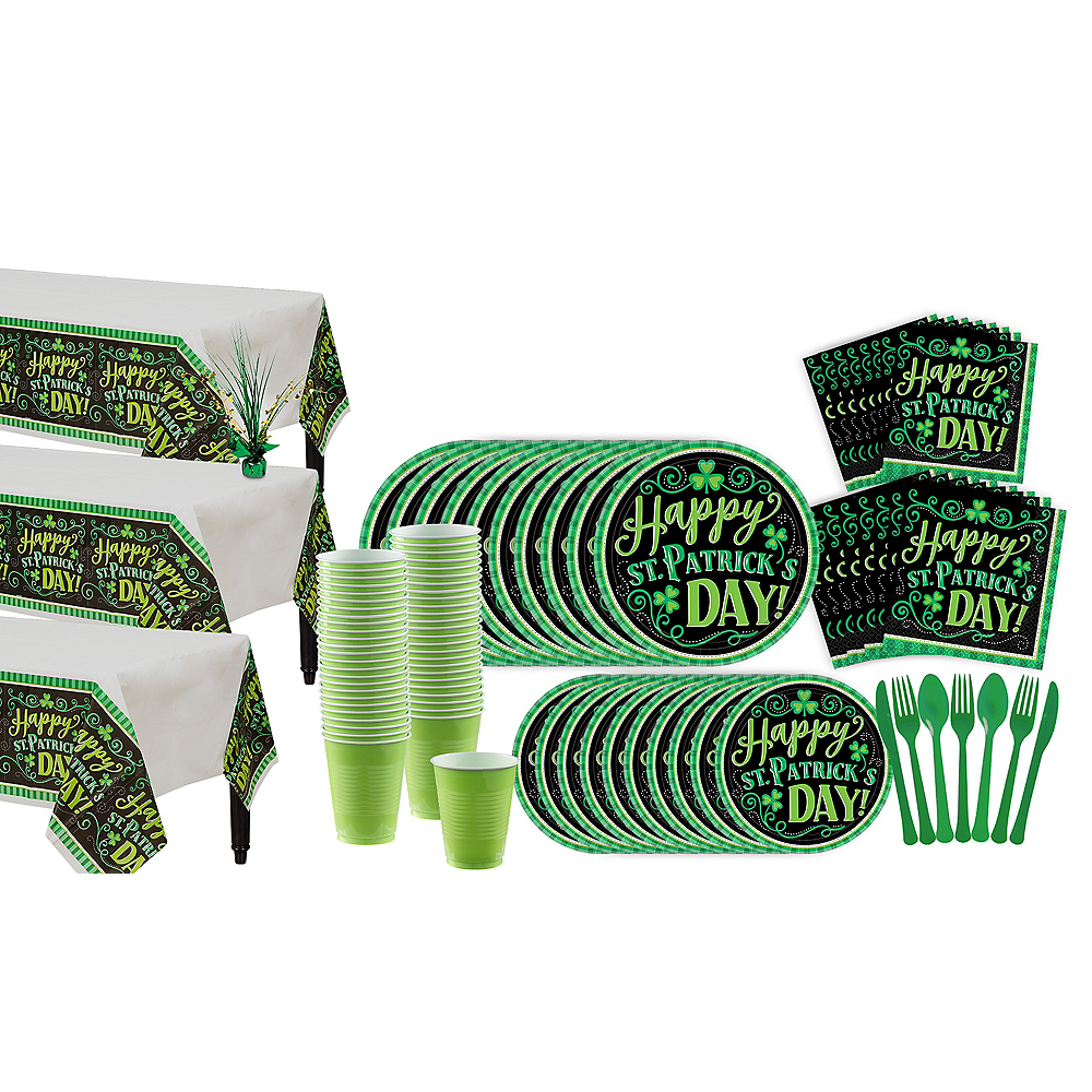 Clover Me Lucky Tableware Kit for 100 Guests Image #1