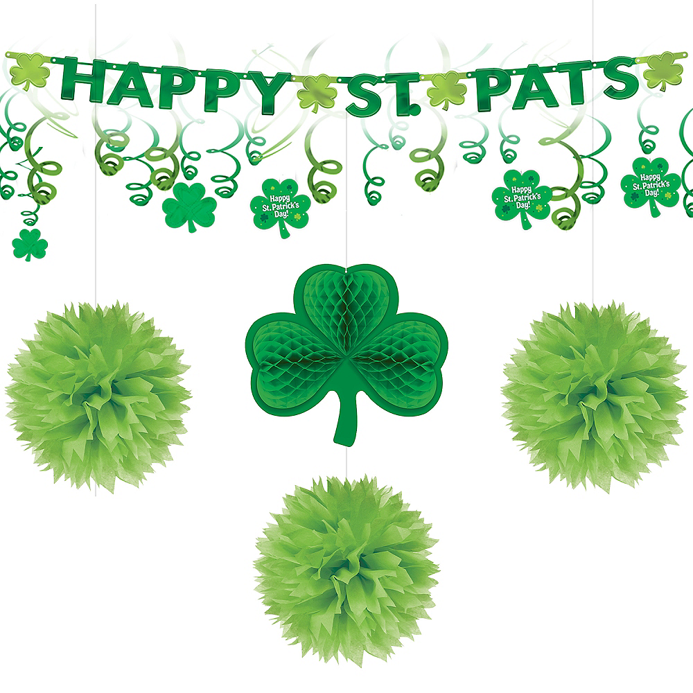 Happy St. Patrick's Day Shamrock Decorating Kit Image #1
