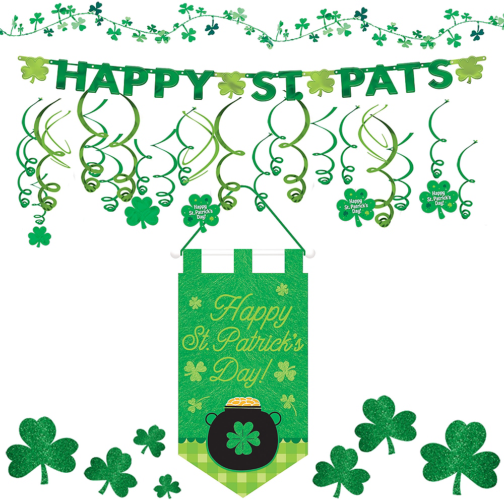 Happy St. Patrick's Day Shamrock Super Decorating Kit Image #1