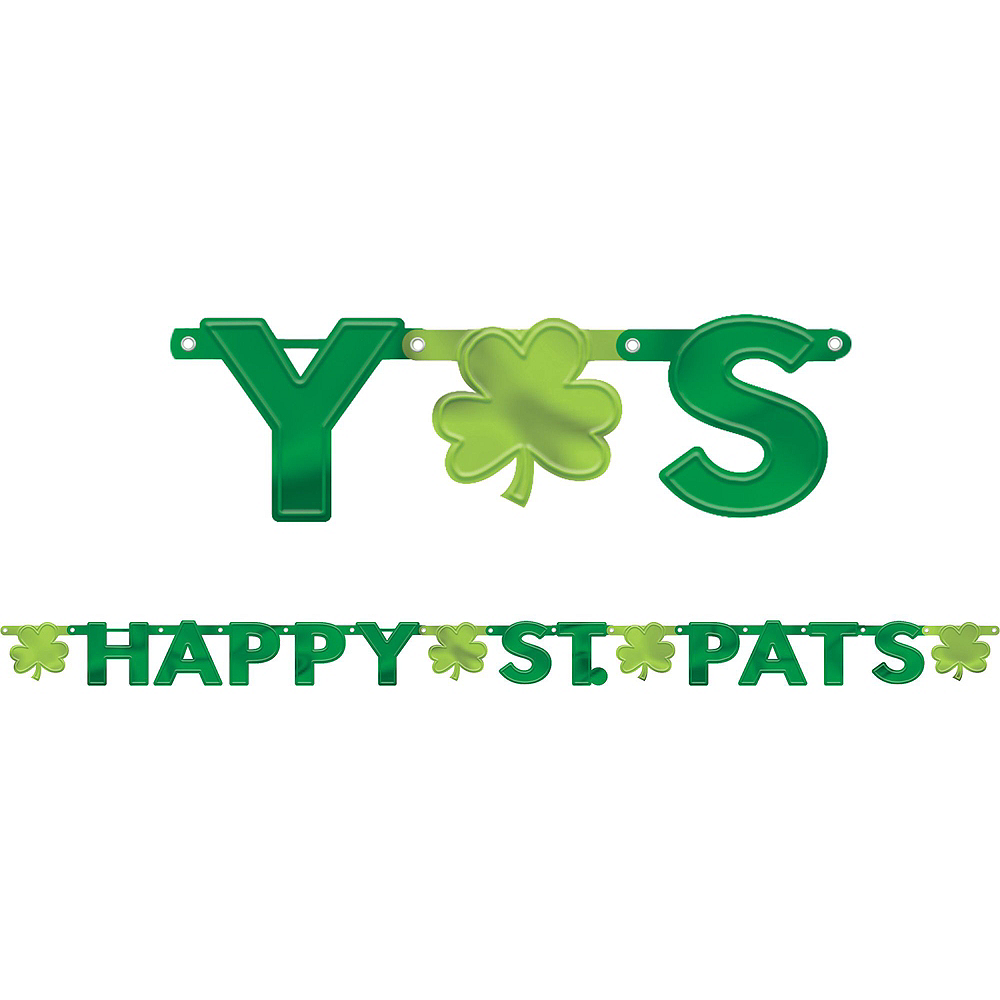 Happy St. Patrick's Day Shamrock Super Decorating Kit Image #2