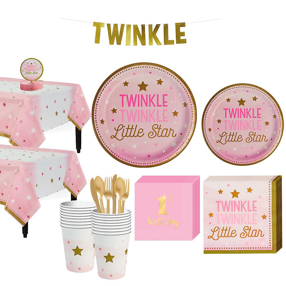 Pink Twinkle Twinkle 16ct Tableware Kit Image #1