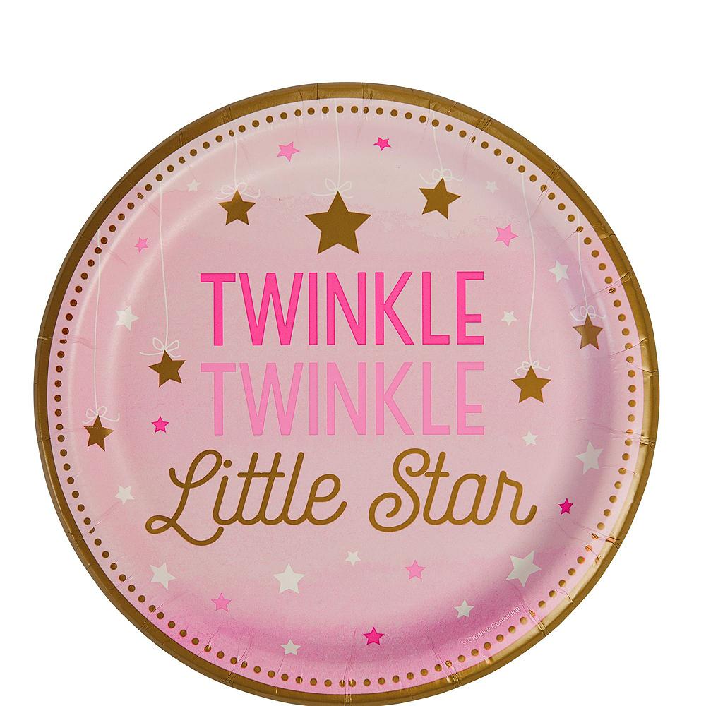 Pink Twinkle Twinkle Deluxe 32ct Tableware Kit Image #2