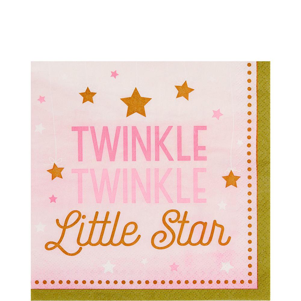 Pink Twinkle Twinkle Deluxe 32ct Tableware Kit Image #5