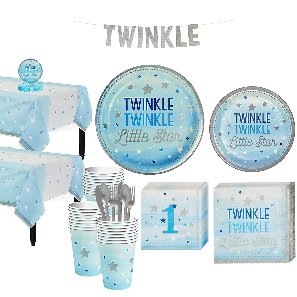 Blue Twinkle Twinkle 32ct Tableware Kit Image #1