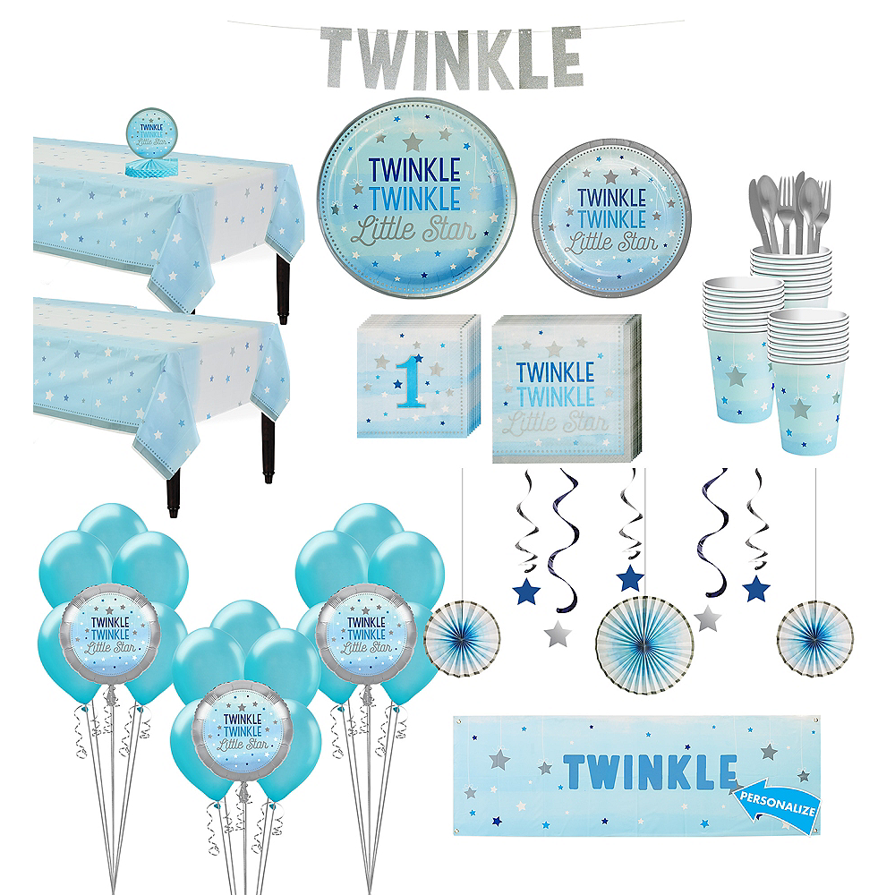 Blue Twinkle Twinkle Deluxe 32ct Tableware Kit Image #1