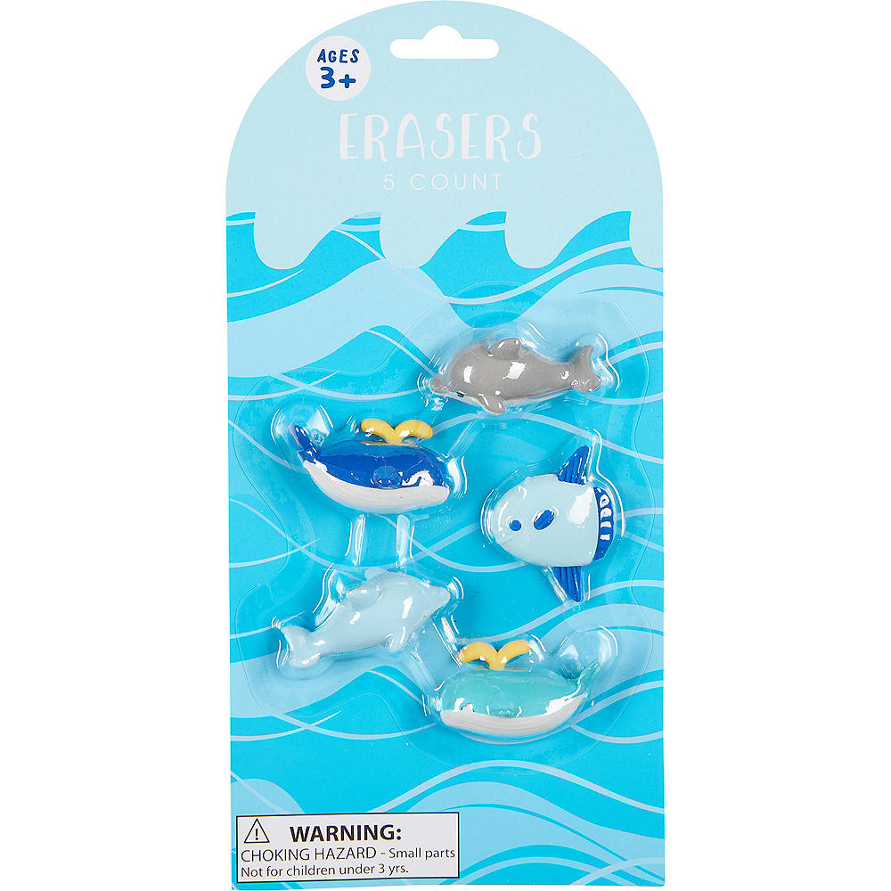 Sea Animal Erasers 5ct Image #2