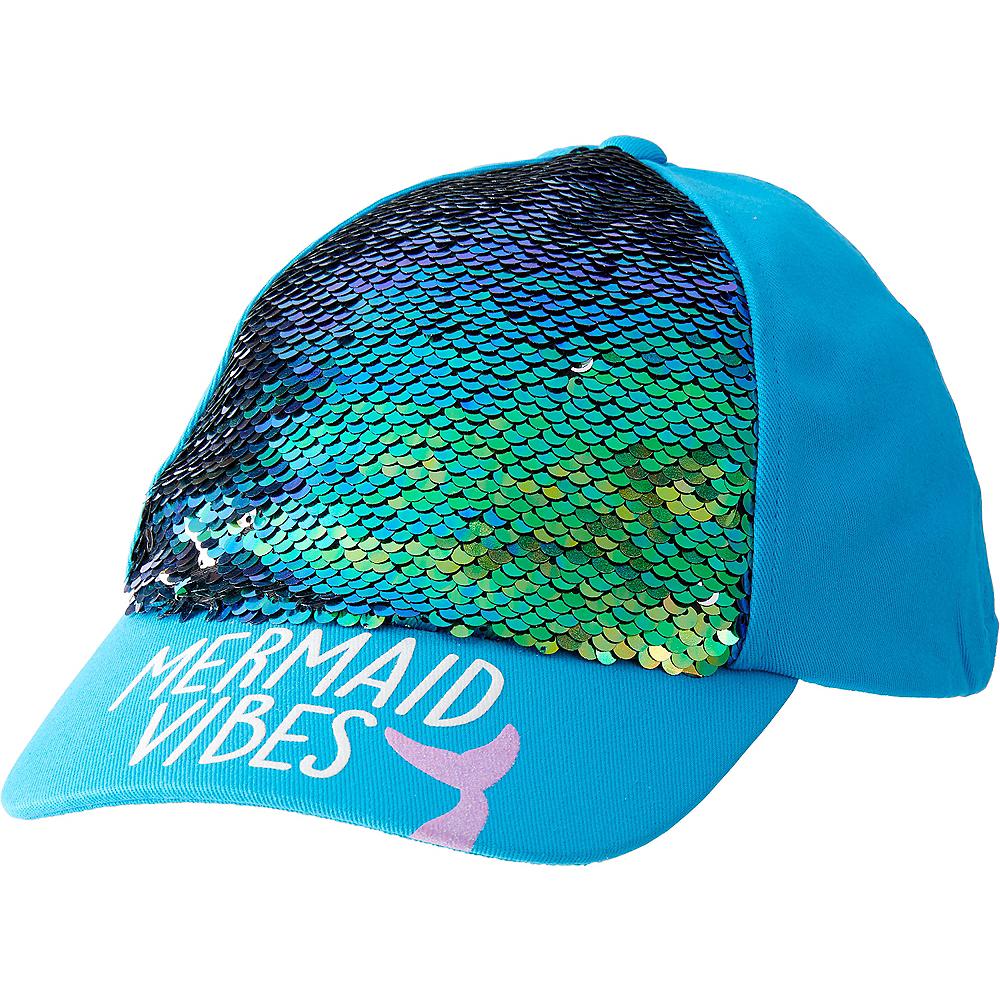 Child Sequin Mermaid Baseball Hat Image #1