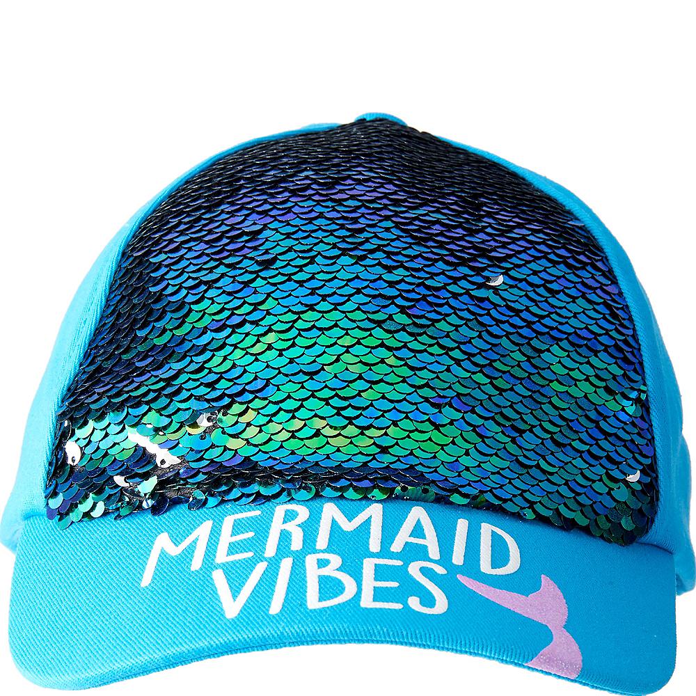 Child Sequin Mermaid Baseball Hat Image #2