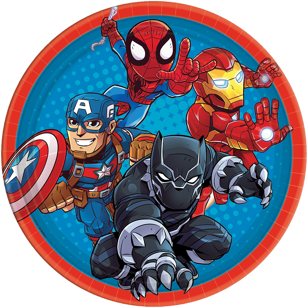 Marvel Super Hero Adventures Lunch Plates 8ct Image #1