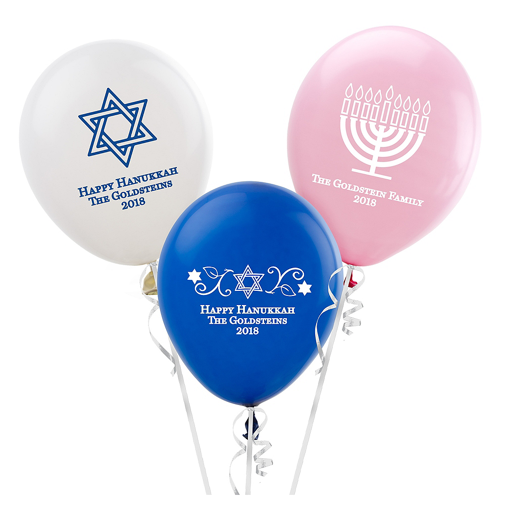 Personalized Passover Latex Balloon Image #1