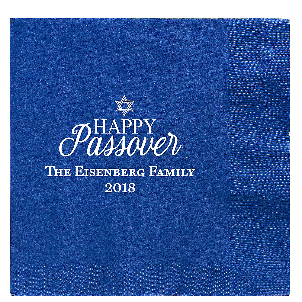 Personalized Passover Dinner Napkins Image #1