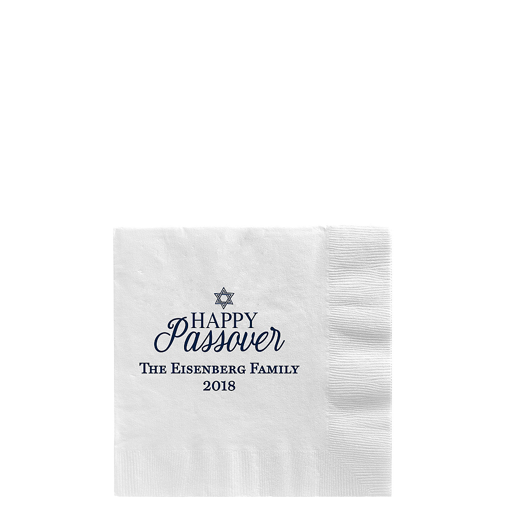 Personalized Passover Beverage Napkins Image #1