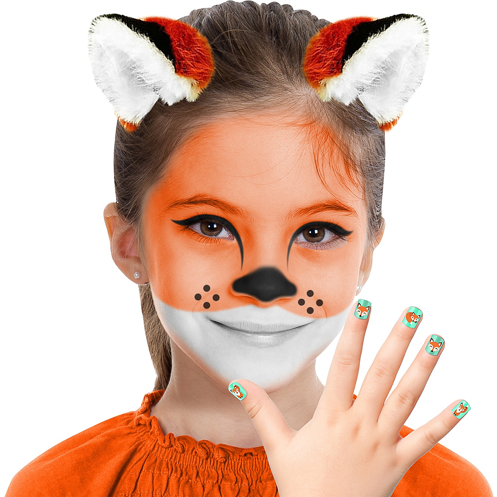 Child Fox Makeup Kit 6pc Party City - Fox-makeup