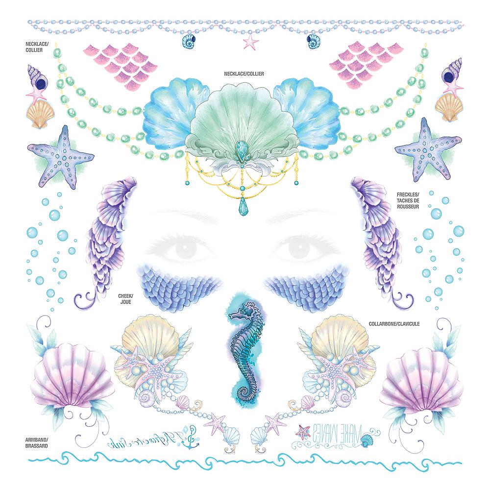 Mermaid Tattoos & Accessory Kit 97pc Image #1