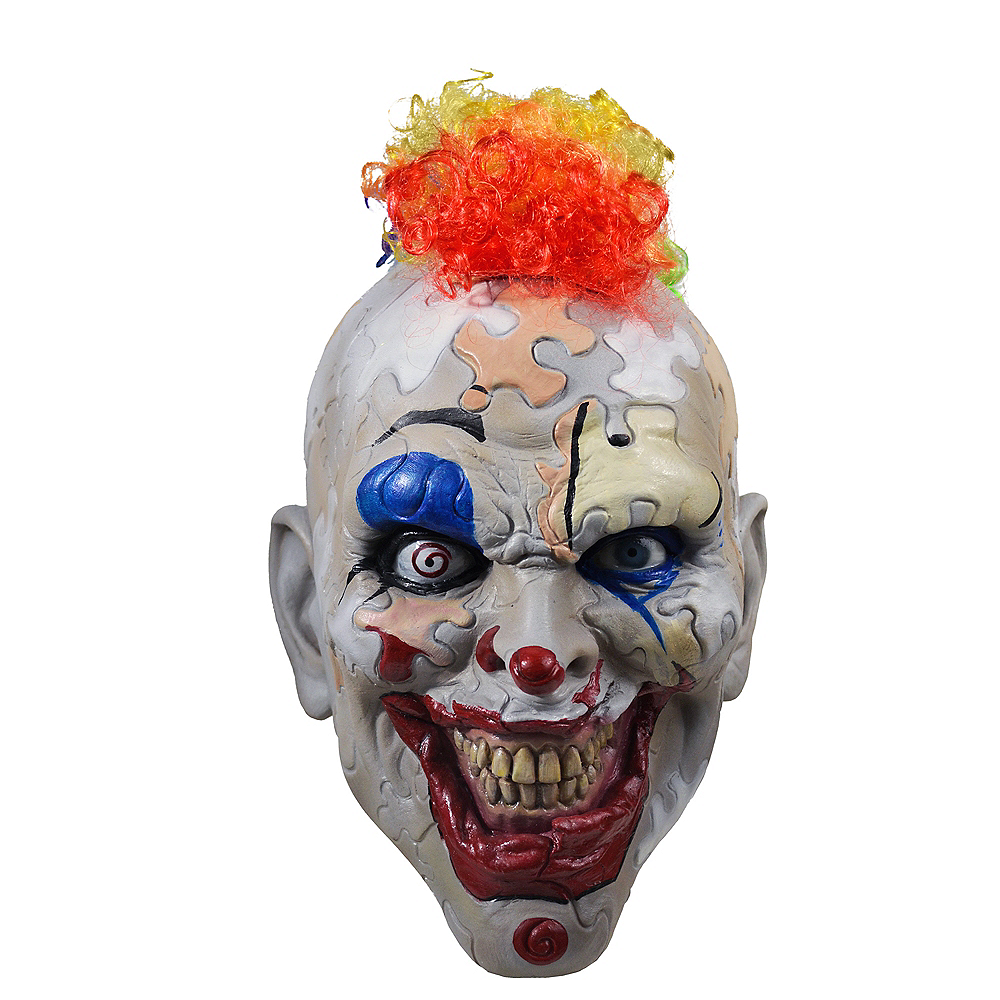 Halloween Clown.Puzzle Face Clown Mask American Horror Story Cult