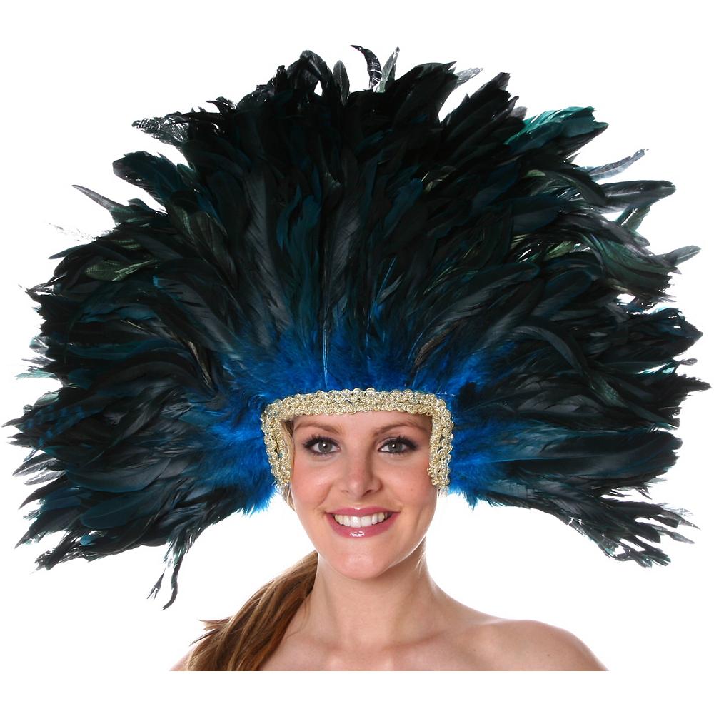 Black & Blue Feather Mask Image #2