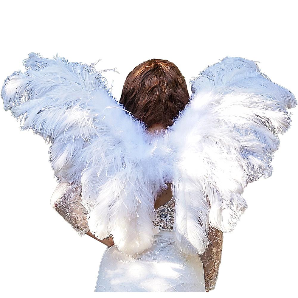 Elegant White Feather Wings Image #1