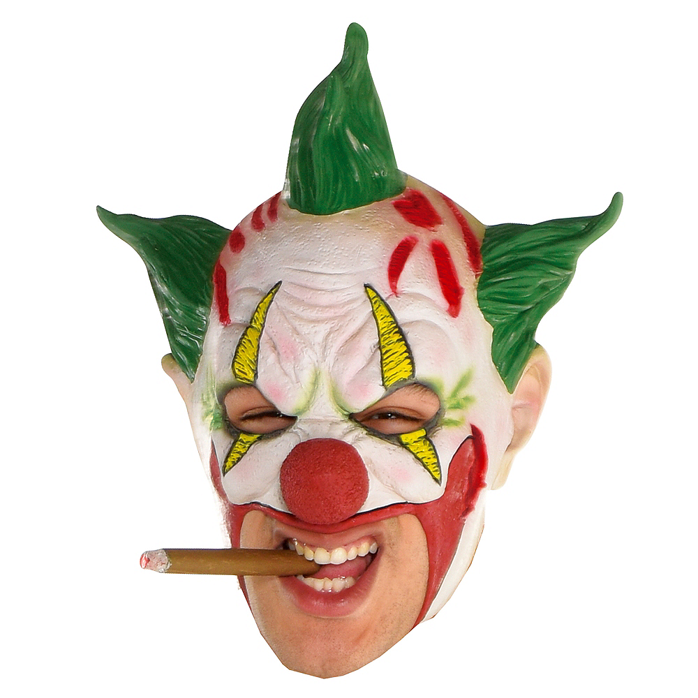 Adult Green-Haired Clown Mask Image #1