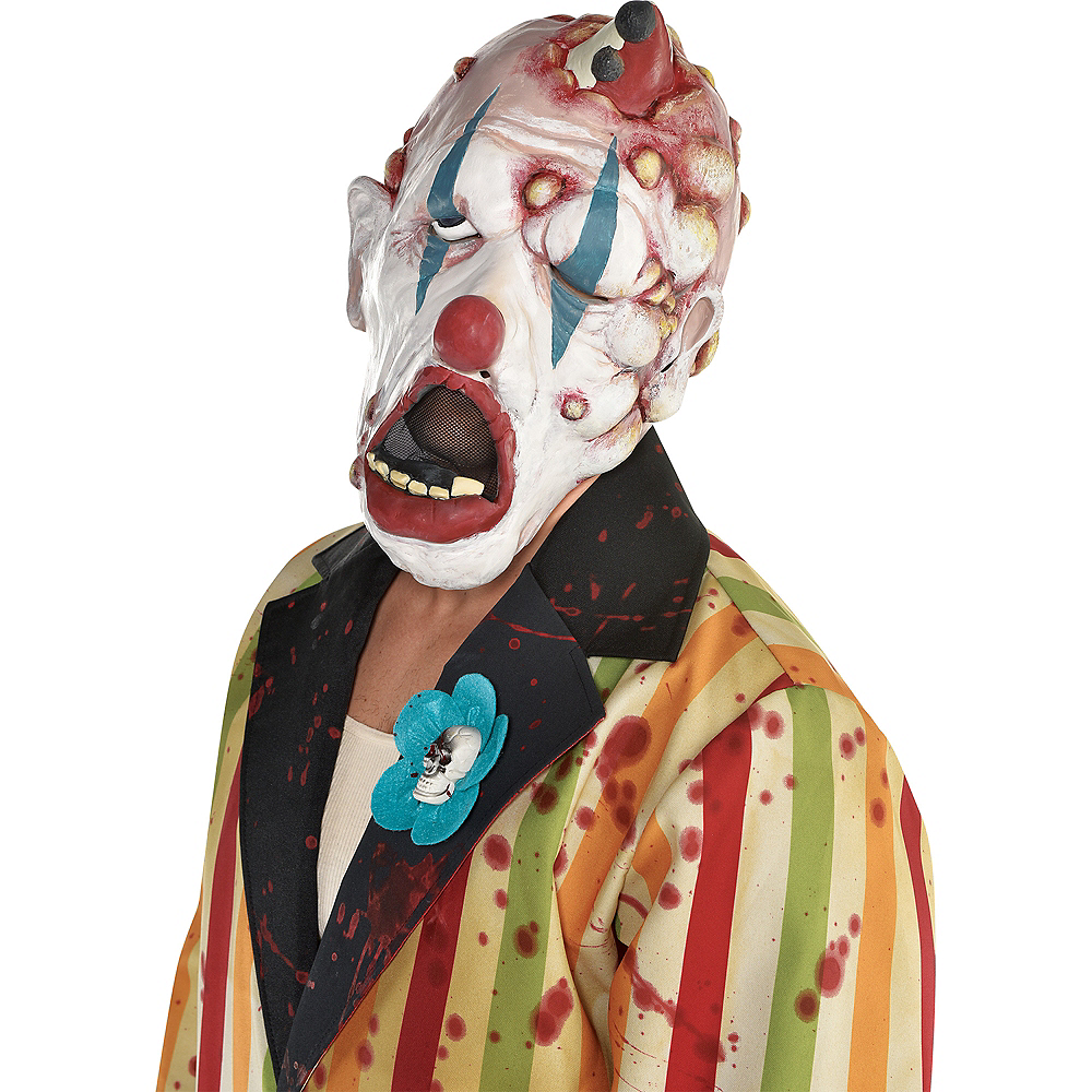 Adult Deranged Clown Mask Image #2