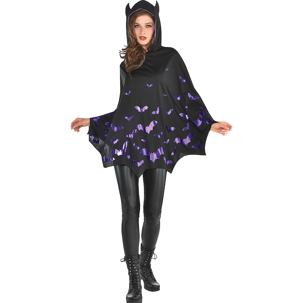 Nav Item for Adult Bat Poncho Image #1