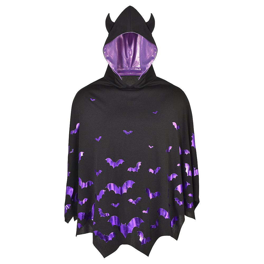 Nav Item for Adult Bat Poncho Image #2