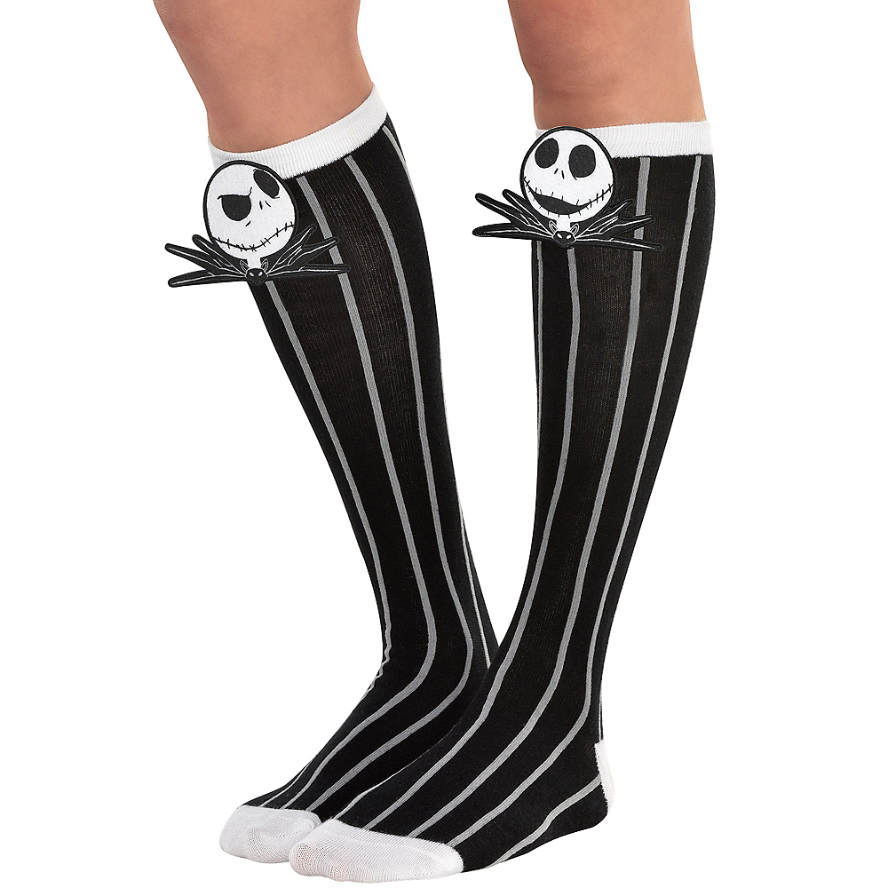 Nav Item for Jack Skellington Knee-High Socks - The Nightmare Before Christmas Image #1