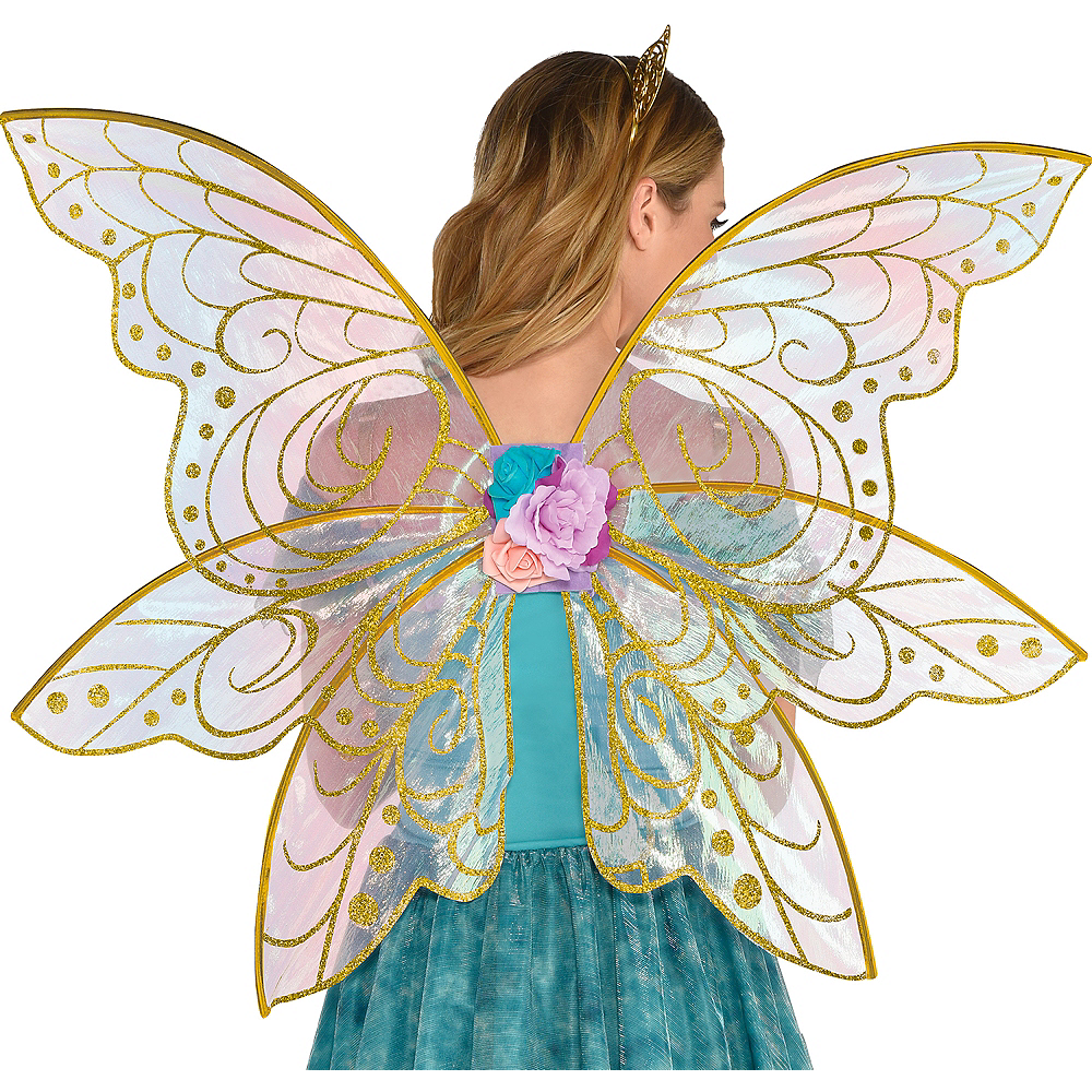 Glitter Gold Fairy Wings Image #1