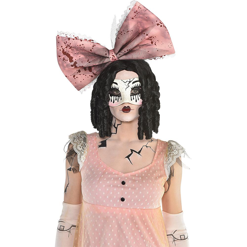 Creepy Doll Half Mask Image #2