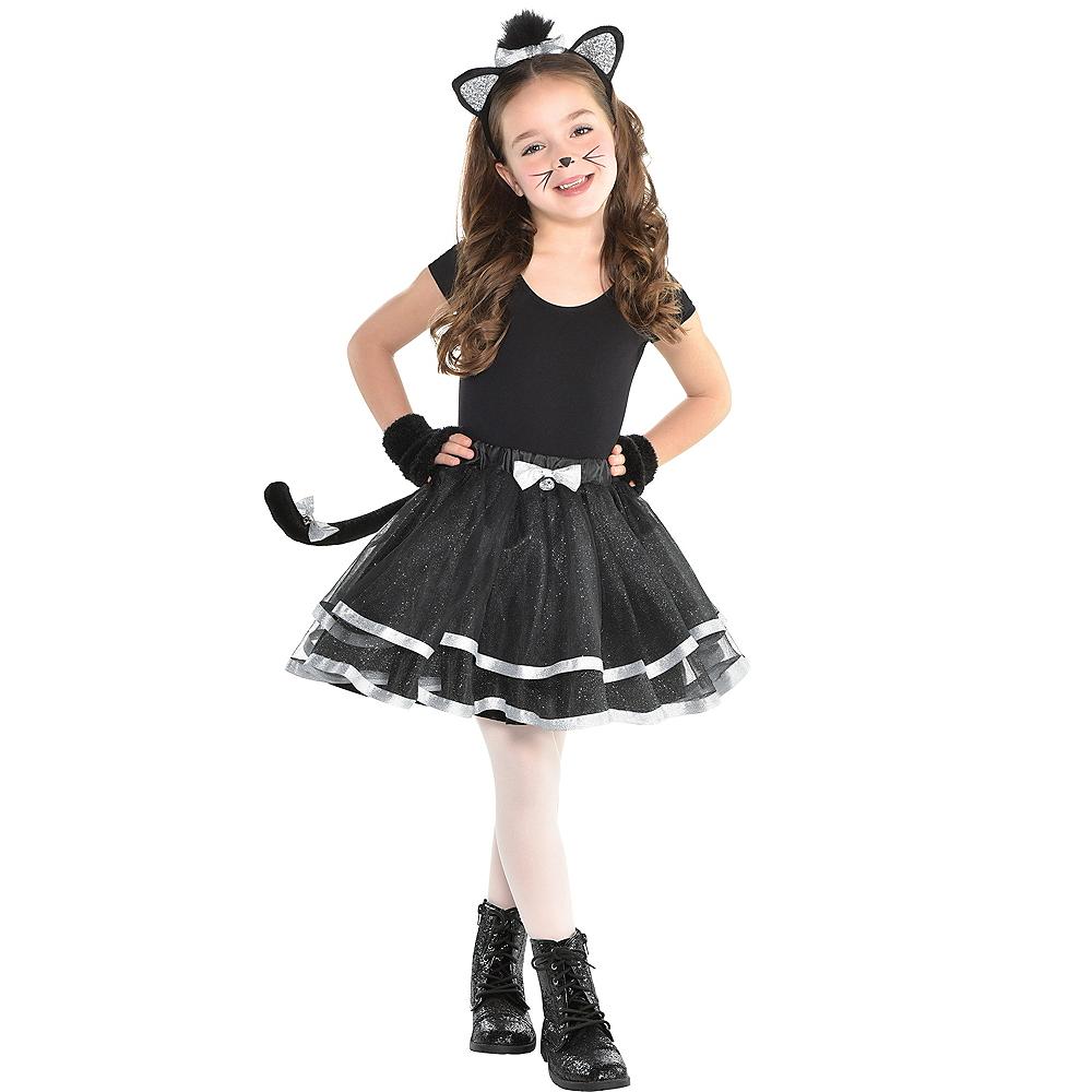 Girls Glitter Black Cat Costume Accessory Kit Image  1 d76d05ec56