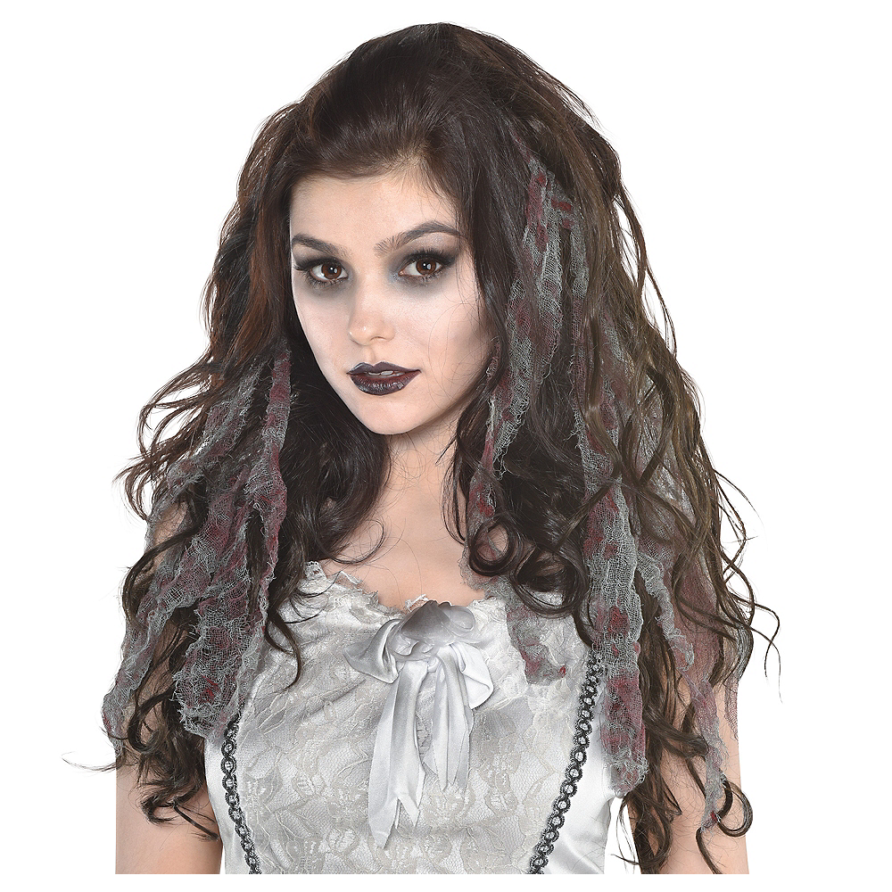 Zombie Gauze Hair Extensions Party City