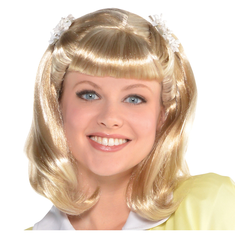 5c9531335610 Sandy Olsson Summer Nights Wig - Grease