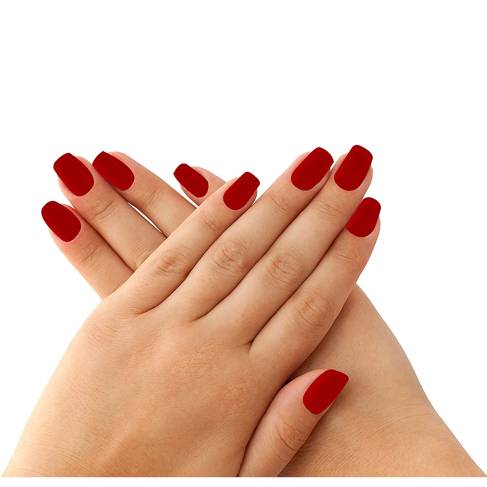 Elegant Red Nails 24ct | Party City