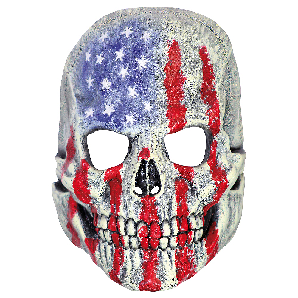 Nav Item for Patriotic Skull Mask Image #1