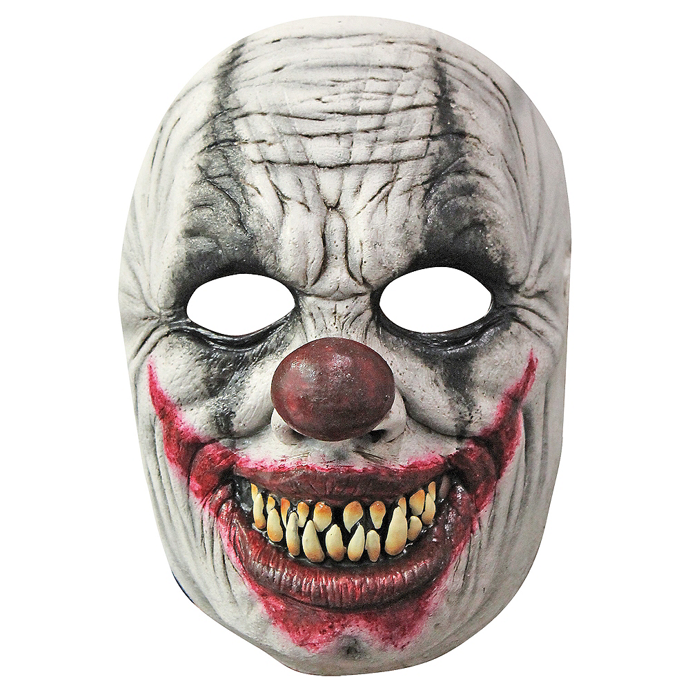 Creepy Grin Clown Mask Image #1