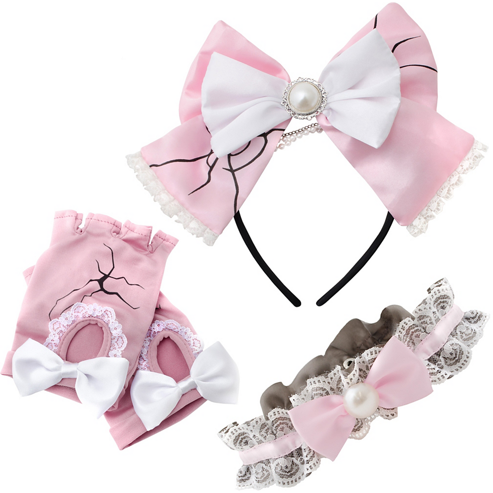 Womens Pink Broken Doll Costume Accessory Kit Image #2