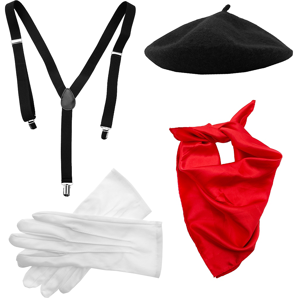 Adult Mime Costume Accessory Kit Image #2