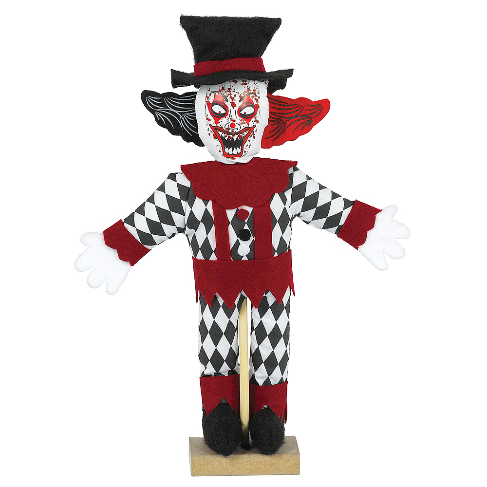 Creepy Clown Halloween Decorations.Mini Standing Evil Clown Decoration