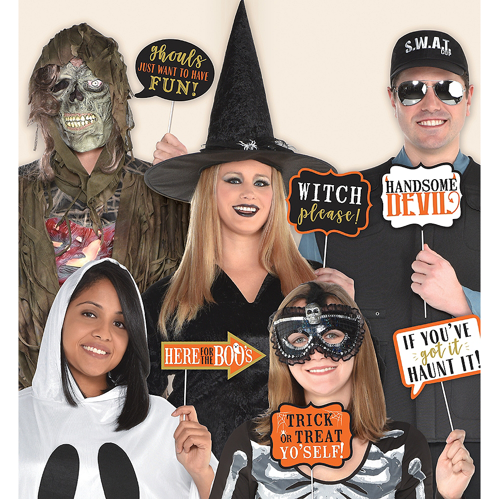 nav item for wicked halloween photo booth props 13ct image 1