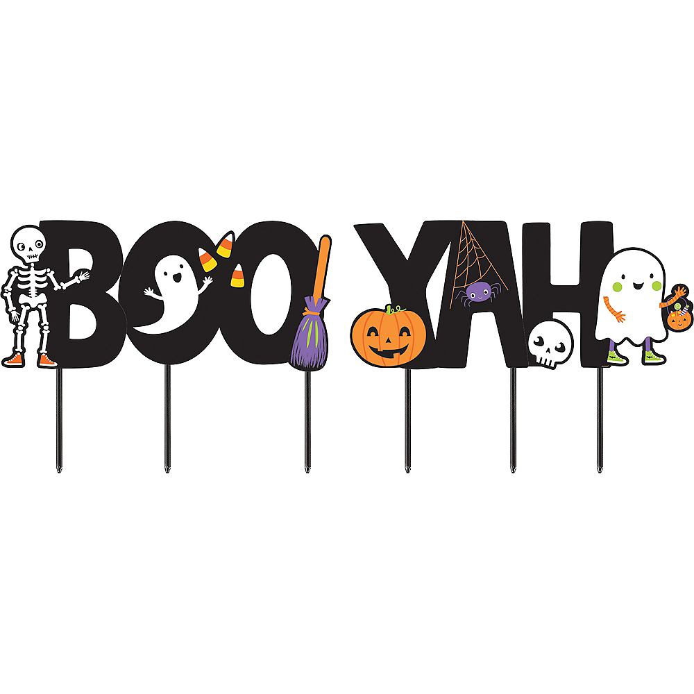 Halloween Friends Booyah Yard Sign Set Image #2