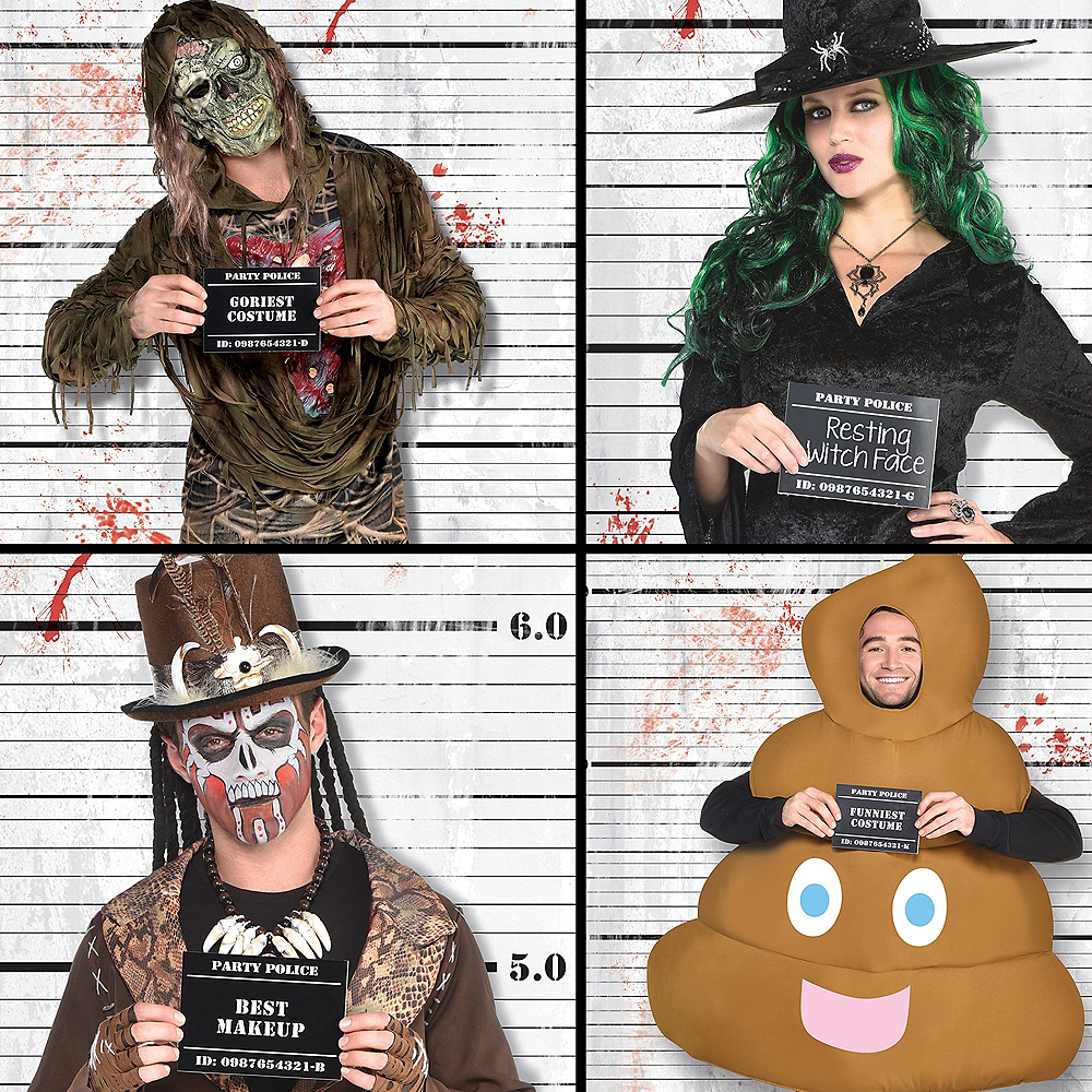 Police Lineup Scene Setter with Photo Booth Props 14pc Image #3