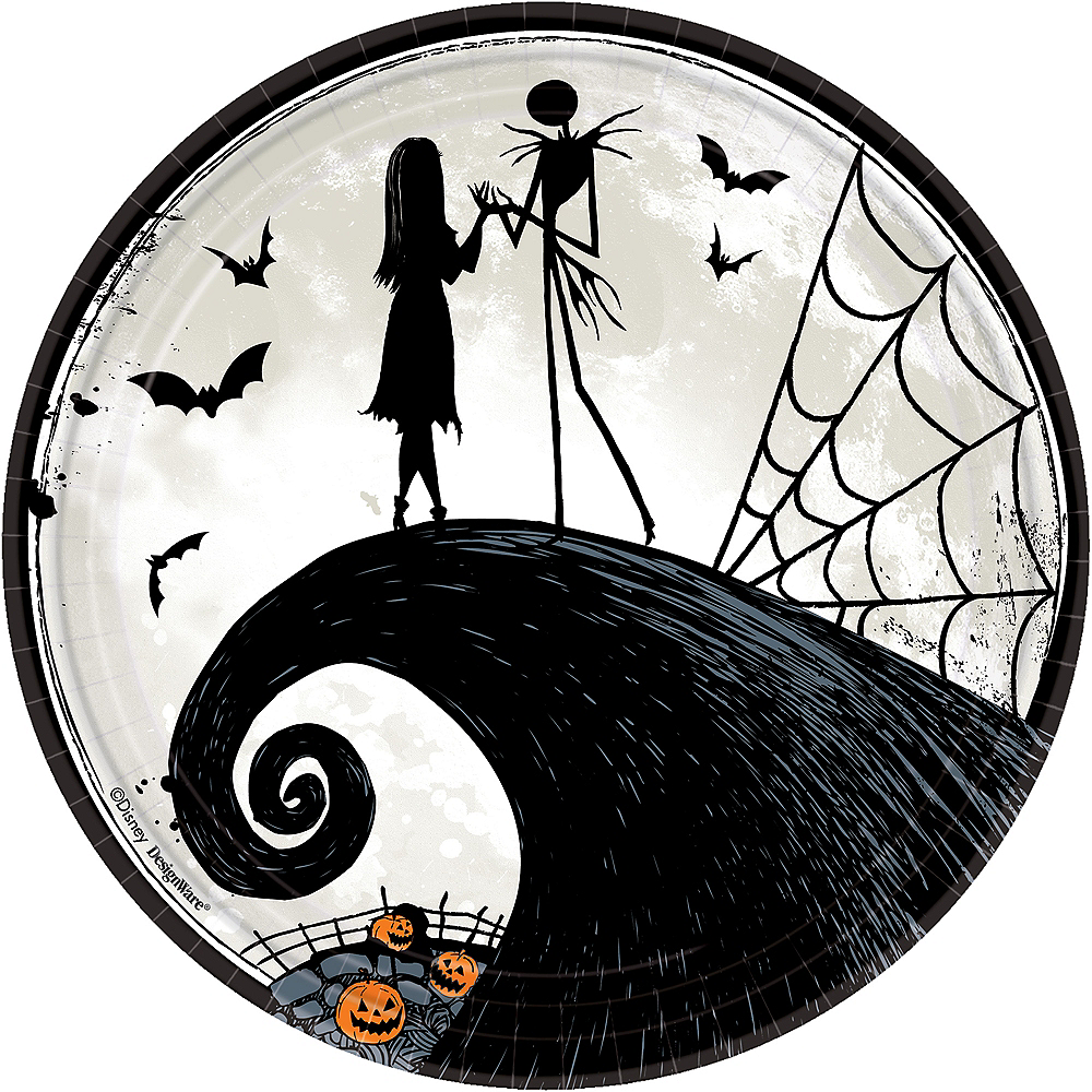 the nightmare before christmas lunch plates 8ct image 1 - Who Directed Nightmare Before Christmas