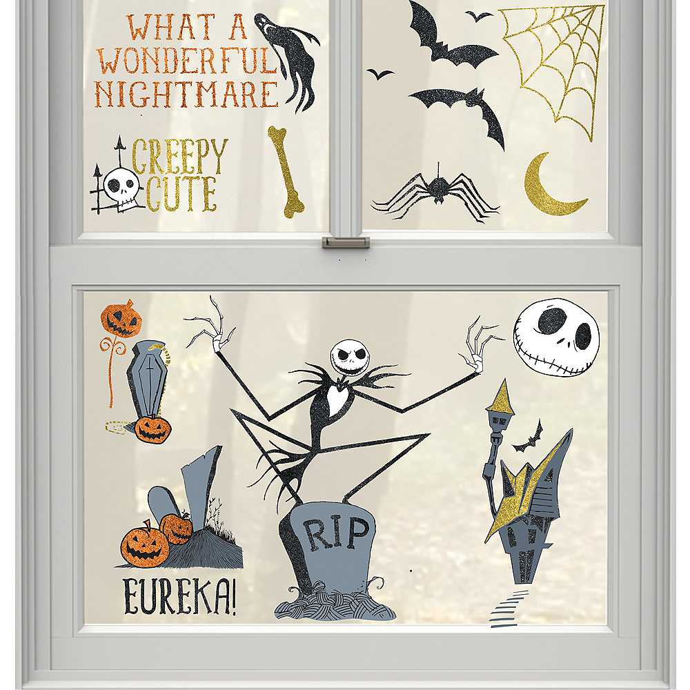 the nightmare before christmas cling decals 15ct image 1 - A Nightmare Before Christmas