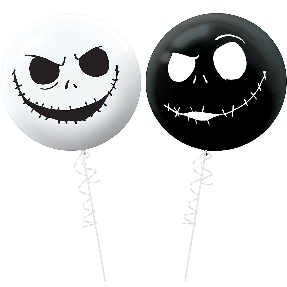jack skellington balloons 2ct the nightmare before christmas image 1
