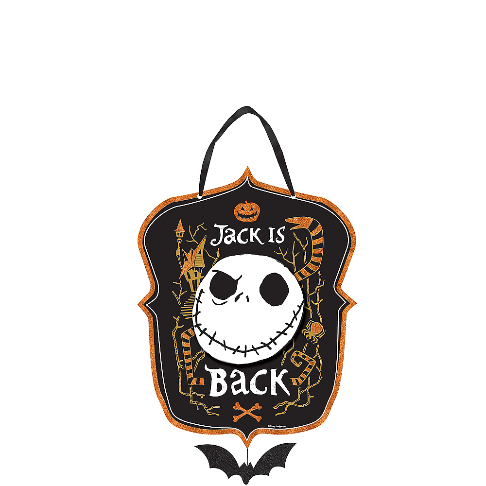 Glitter Jack Skellington Sign - The Nightmare Before Christmas Image #1