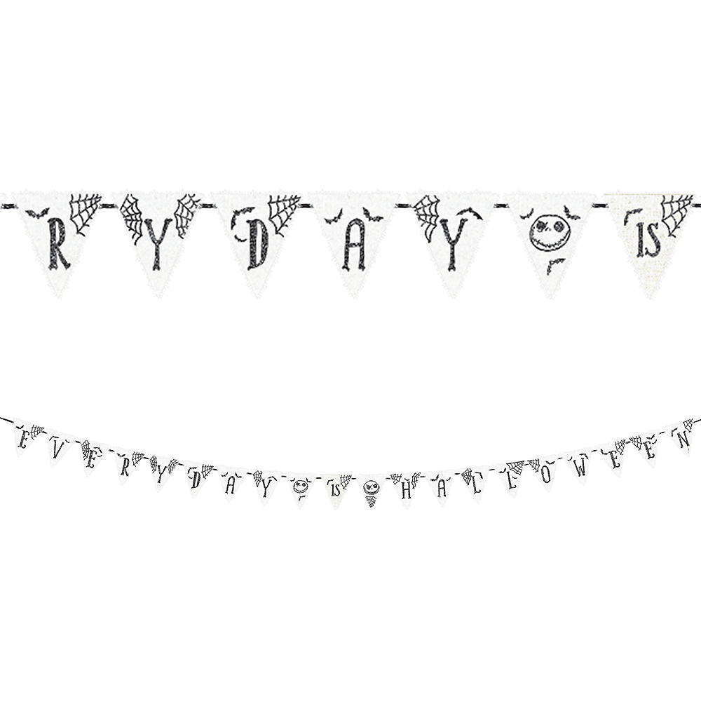 Nightmare Before Christmas Fonts.Jack Skellington Pennant Banner The Nightmare Before Christmas