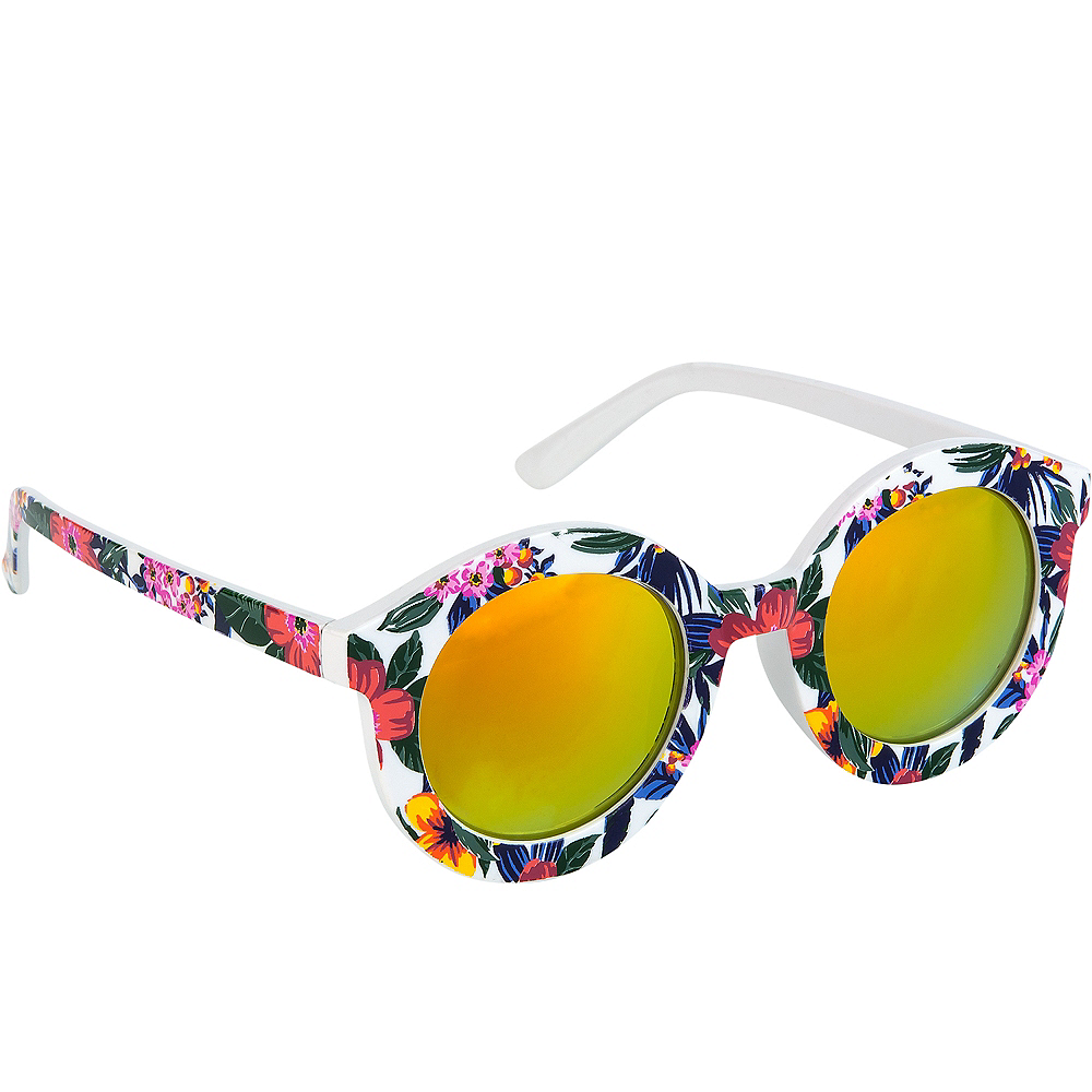 Child Floral 60s Sunglasses Image #1
