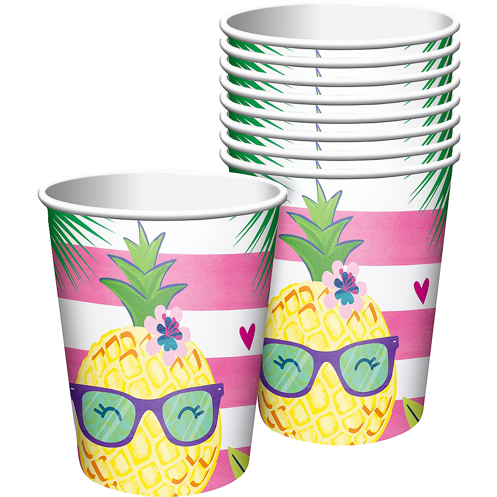 Striped Tropical Cups 8ct Image #1