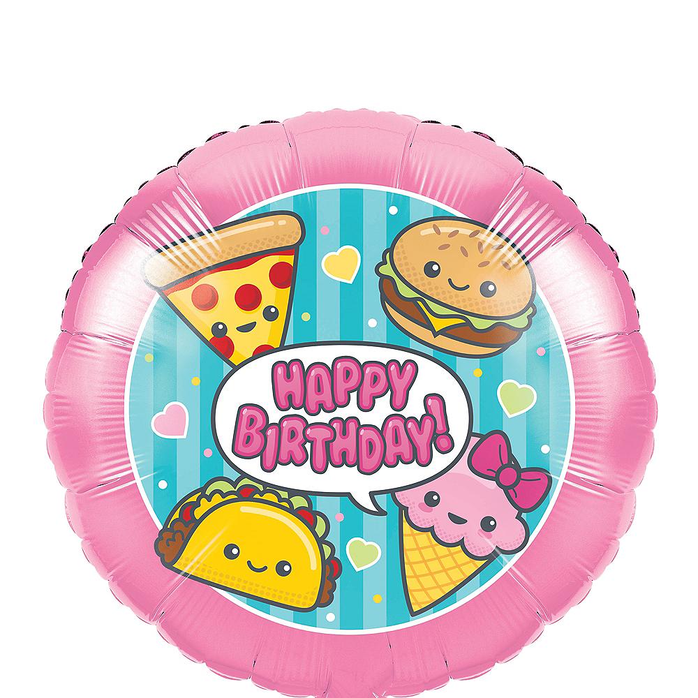 Junk Food Fun Happy Birthday Balloon Image #1