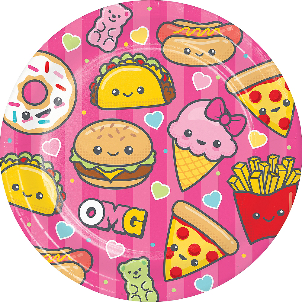Junk Food Fun Lunch Plates 8ct Image #1